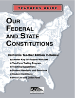 Image Our Federal and State Constitutions - CA Teacher Guide & Materials