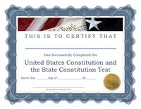 Image Student Achievement Certificate - Constitution 30/pk