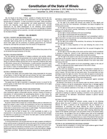 Image Copy of Illinois State Constitution