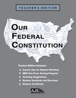 Image Our Federal Constitution - Teacher Guide