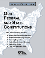 Image Our Federal and State Constitutions - Ohio Teacher Guide & Materials