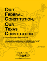 Image Reproducible set of Our Federal Constitution, Our Texas Constitution